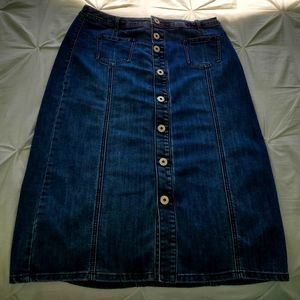 Size 10P  Christopher banks  Jean skirt